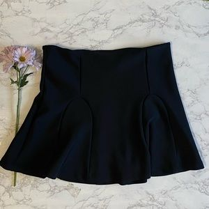 Mossimo black stretch skater mini skirt xl